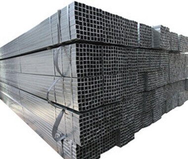 Black rectangular pipe cold rolled pre galvanized welded tube
