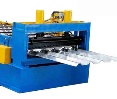 Custom steel structure metal 688 deck roll forming machine