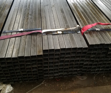 Custom 50x50 black carbon square hollow section steel tube