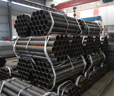 China Factory ERW Black Welded Round Steel Pipe