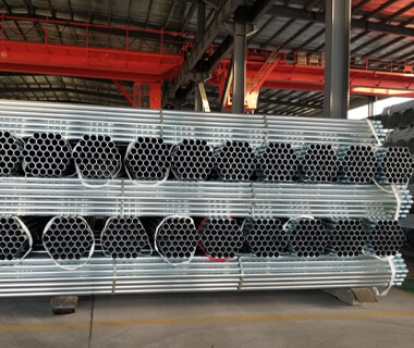 Custom Marking Pre Galvanized Round Steel Pipe Astm A53 Sch 40