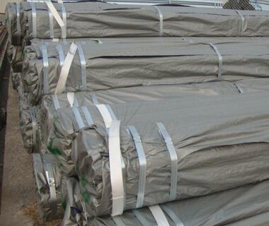 Custom Q345 HDG Carbon Steel Pipe PVC Blue Package