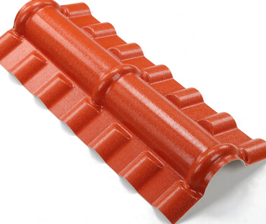 Decorative Corner Roof Ridge Tiles ASA PVC Water Flashing Board