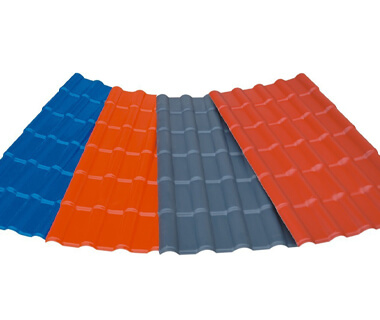 ASA PVC Decorative Corner Ridges Roofing Sheet