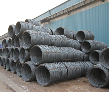 Hot Rolled Q235 PVC Coated Steel Wire Rod  in Coils