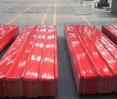 IBR DX51D PPGI Wavy Trapezoid Shape Corrugated Roofing Steel Sheet